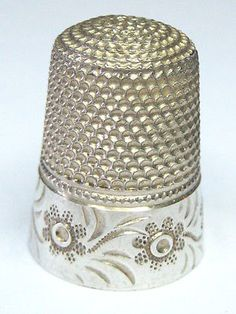 Ornate Flower - Sterling Silver Sewing Thimble - Size 8 - 3.94 grams - Star Mark in Antiques, Sewing (Pre-1930), Thimbles | eBay