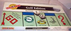 NEW Monopoly game GOLF EDITION 1996 real estate course board game #HASBRO