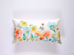 Pillow is featured in the Spring 2015 Lookbook below:  http://etsylookbooks.com/for-home/    New longer lumbar pillow that fits a 12x 21