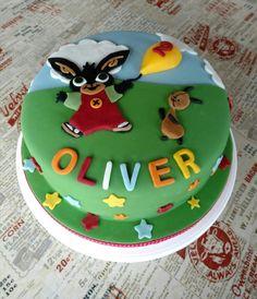 Colourful Bing the Bunny birthday cake