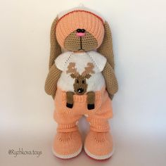 #вязаныйзаяц #villy_vanilly_shop #амигуруми (Автор идеи Бэла Макаева) Crochet Bunny Pattern, Crochet Rabbit, Crochet Bear, Crochet Toys Patterns, Cute Crochet, Amigurumi Patterns, Stuffed Toys Patterns, Amigurumi Doll, Crochet Doll Clothes