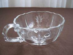 Vintage 1930's Fostoria Baroque Elegant Glass Nappy Bowl