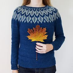 Arboreal is worked seamlessly from the top down. The stranded yoke is worked and then short row shaping is added on the back to shape the shoulders and neckline. The sleeves and body are separated and worked top down. Optional, gentle waist shaping makes for a feminine fit. It's fun and meditative to watch the leaves grow as the yoke is knitted. The chart is easy to follow and memorize and is suitable for a beginner, calling for only two colors. This design lends itself to many types of yarn…