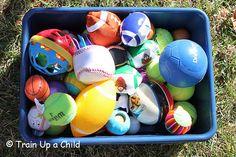 Train Up a Child: Ball Toss