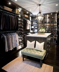 closets ideas | Top 100 Best Closet Designs For Men - Walk-In Wardrobe Ideas