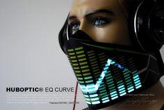 EQ CURVE mask for masquerade edc DJ gigs tron rave by HUBOPTIC