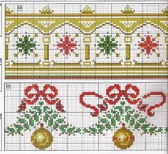 Christmas cross stitch border