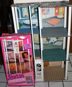 80s Barbie Townhouse House 3 Feet Tall/Elevator Box - Wow, this was definitely one of my favorite things as a kid