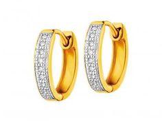 Kolczyki z żółtego złota z diamentami