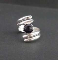 """Anillo de plata 950 con piedra """"Goldstone"""" Azul"""