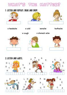 English Grammar For Kids, English Grammar Worksheets, Grammar Book, Teaching English, English Time, Learn English, Matter Worksheets, Health Words, Middle School English