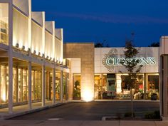 modern shopping center | metal fabric system from Cambridge Architectural offers an upscale ...