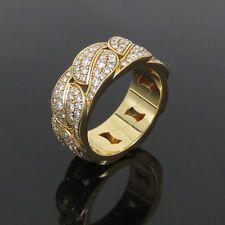 Estate 2.25ct Cartier Diamond & 18K Yellow Gold Ring Size 53