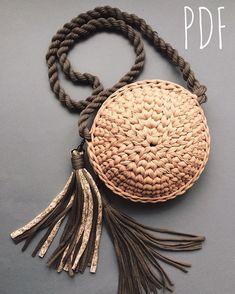 Image gallery – Page 792633603139741445 – Artofit Crochet Handbags, Crochet Purses, Crochet Yarn, Yarn Bag, Diy Handbag, Round Bag, Macrame Bag, Basket Bag, Knitted Bags