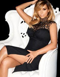 Kardashian Cornelli High Neck Pencil Dress - Product Code:L22-173