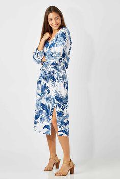 WISH - Deep Midi Dress