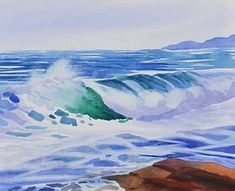Watercolor Painting Waves Pictures - Imageck