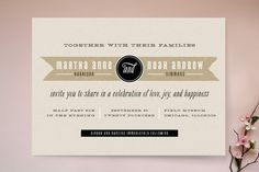 Kraft Label Wedding Invitations by lehan paper at minted.com
