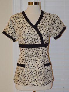 Items similar to Stylish Nursing Medical Scrub (Only LARGE Left) Ready to Ship on Etsy Scrubs Outfit, Scrubs Uniform, Medical Scrubs, Nurse Scrubs, Scrubs Pattern, Nurse Costume, Scrub Sets, Work Wear, Two Piece Skirt Set