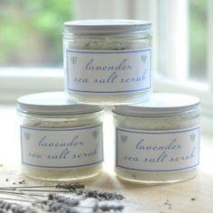 Lavender Sea Salt Scrub For Hands