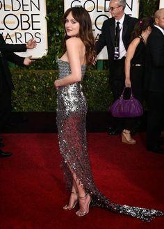 Fifty Shades Updates: PHOTOS: Dakota Johnson at the Golden Globes (2015)