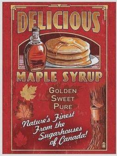 New Hampshire - Syrup Vintage Sign - Lantern Press Artwork Giclee Art Print, Gallery Framed, Silver Wood), Multi Vintage Advertisements, Vintage Ads, Vintage Posters, Vintage Labels, Retro Ads, Vintage Metal, Vintage Prints, Vintage Items, Travel Ads