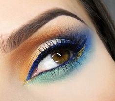 Blue liner - Eye make-up look