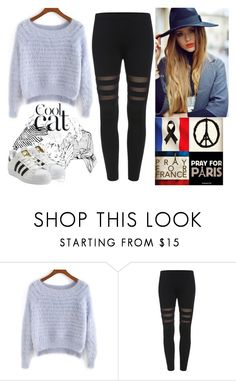 """Sin título #300"" by leonormoral ❤ liked on Polyvore featuring adidas Originals"