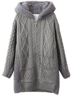 To find out about the Grey Hooded Long Sleeve Geometric Sweater Coat at SHEIN, part of our latest Sweaters ready to shop online today! Hooded Sweater, Sweater Coats, Sweater Jacket, Sweaters, Grey Cardigan, Knit Cardigan, Comfy Casual, My Style, Totes