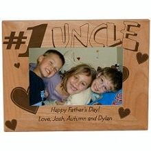 number one uncle personalized wood picture frames a picture of dads little angels looks absolutely