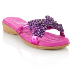 TO DIE FOR!  Joan Boyce Slip-On Sandal with Beaded Bow at HSN.com.