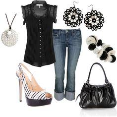 Black & White, created by jklmnodavis on Polyvore