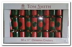 Cym Cards. 11 inch Crackers from Tom Smith Red and Green Christmas Bauble €20