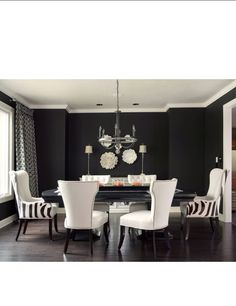 Dining set & black walls my fav