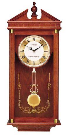 Seiko Regal Oak Wall Clock with Pendulum Pendulum Wall Clock, Wall Clocks, Wall Clock Online, Large Clock, Digital Wall, Wooden Case, Home Decor Furniture, Seiko, Solid Oak