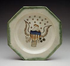 Plate, 1800–1830 | British (American market) | The Met