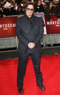 #JohnnyDepp at the UK premiere of Mortdecai, January 19, 2015.