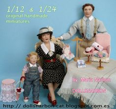 """avalaibles at """"A Mini Miniature Show""""  online 20 to 23 March 2014 http://aminiminiatureshow.weebly.com/dollsnarbon-by-m-narbon.html"""