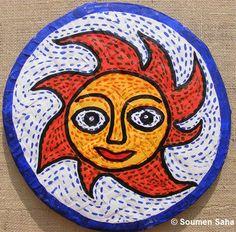 I've taken some nice photographs of round shaped Art Crafts from Phool Bagan Sanskriti Club Puja Pandal near Baghajatin, Kolkata.    Art Cra...