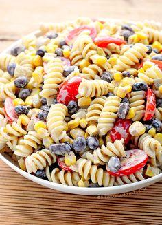 Southwestern Black Bean Pasta Salad Recipe