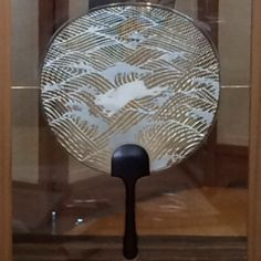 washi fan on display #Kyoto #Japan #handmade #paperart