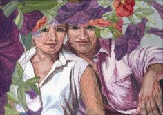 Yhteinen piilopaikka, Hiding together, Helena Vaari, Hollola Finland Quilts, Finland, Pictures, Faces, Painting, Photos, Comforters, Quilt Sets, Painting Art
