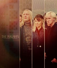 I love how the whole Malfoy family has always been evil and then there was Draco who was the one person to change that.