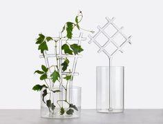 Bucolic est une paire de vases en verre borosilicate soufflé bouche qui évoquent les pergola des jardins.