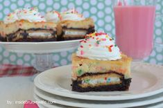 Funfetti Cheesecake Brownies (with Funfetti cake mix)