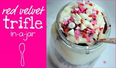 Red Velvet Trifle in a Jar - Something Swanky