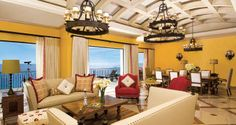 The cheerful décor makes #Hilton Los Cabos Beach & Golf Resort in Los Cabos, Mexico, a pleasant place to chill.