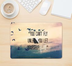 "The Pastel Sunset You Cant Fly Unless You Let Yourself Fall Skin Kit for the 12"" Apple MacBook from DesignSkinz"