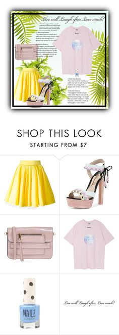 """""""Pastel outfit"""" by bluerose21 ❤ liked on Polyvore featuring Philipp Plein, Sophia Webster, Marc Jacobs and Topshop"""