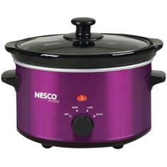 Nesco(r) Oval Slow Cooker (metallic Red) Capacity Removable Ceramic Pot Tempered Glass Lid Stay Cool Handles 3 Heat Settings Metallic Red Slow Cooking, Slow Cooked Meals, Cook Meals, Cooking Turkey, Cooking Oil, Easy Cooking, Cooking Ideas, Best Slow Cooker, Slow Cooker Pork